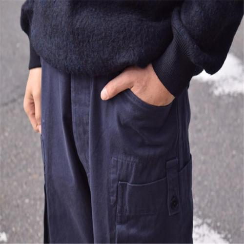 Men fashion casual solid color cargo pants YT009