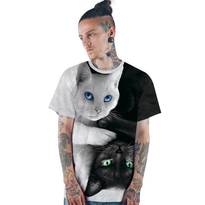 3D Dog Printed Funny Men T-shirt Fashion Casual Novelty Short Sleeve Tees Top