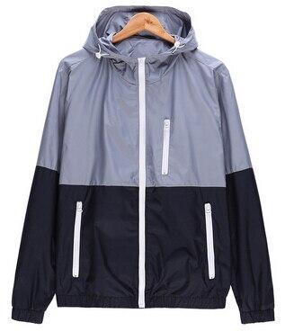 2020 new spring Autumn new men's active jacket hooded jacket Men Fashion Thin Windbreaker Zipper Coats Outwear Brand sportswear
