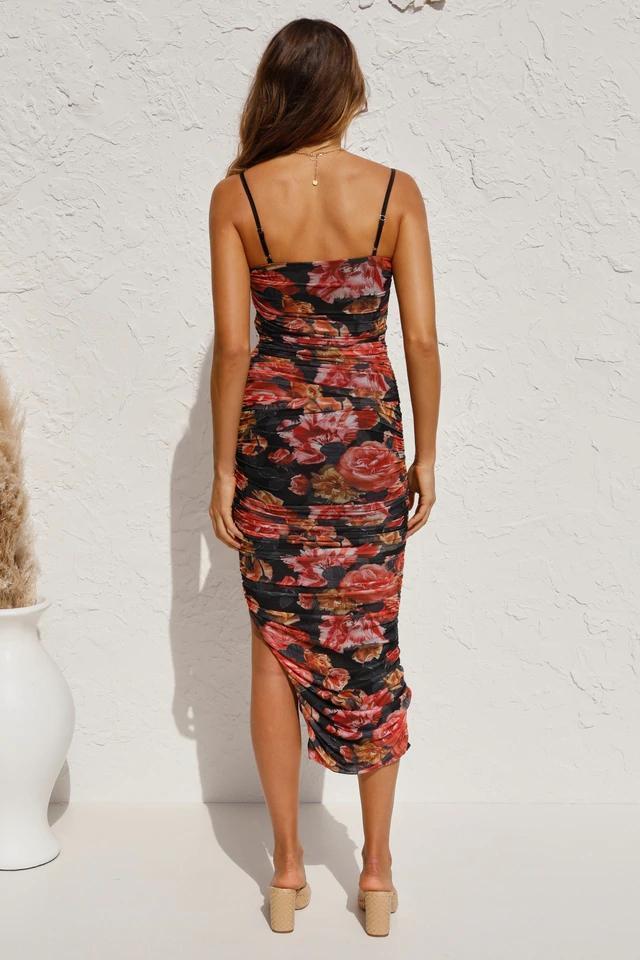 Simone Irregular printing hem Dress