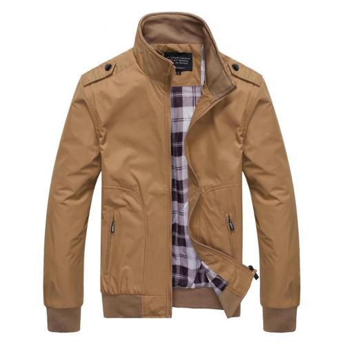 Men's Business Polos jacket men Solid Fit Military Coats Male Fashion Bomber Windbreaker Jackets outwears jaqueta masculina 4XL