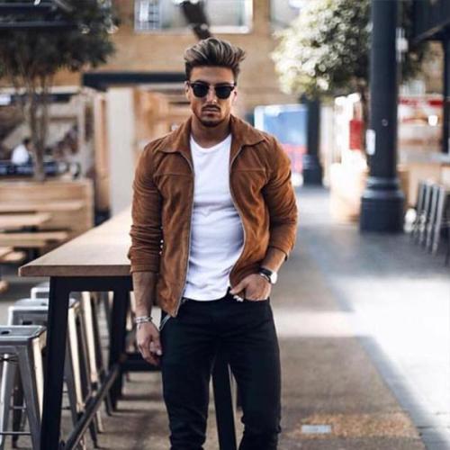 Casual Winter Plain  Zipper Jacket