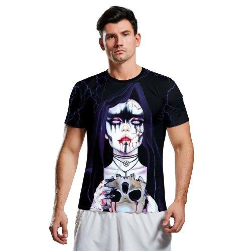 Halloween 3d Horror Short Sleeve T-shirt