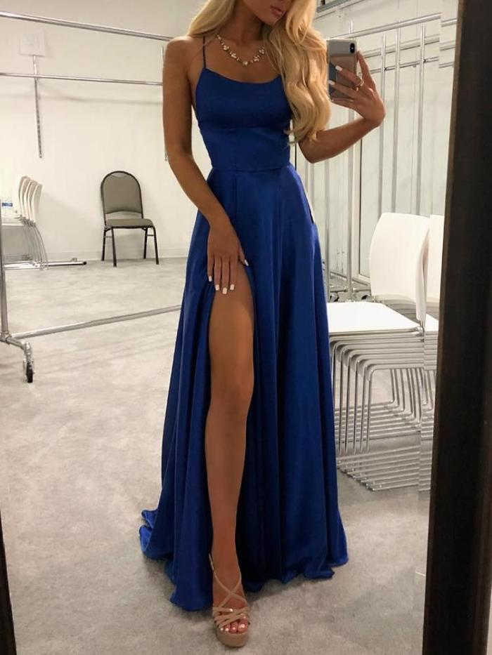 Lace-Up Temperament Evening   Dress