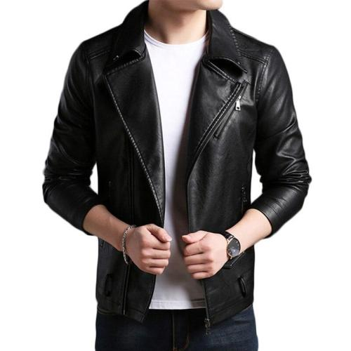 2018 New Fashion Brand Winter Leather Jacket Men Motorcycle Leather Jacket Men Turndown Collar Mens Leather Jacket And Coats XXL