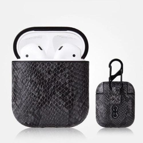 Lmitation Crocodile Leather AirPods Case Shock Proof Cover With Keychain