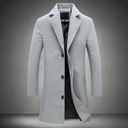 MRMT 2020 Brand Men's Jackets Long Solid Color Single-breasted Trench Coat Casual Overcoat for Male Jacket Outer Wear Clothing
