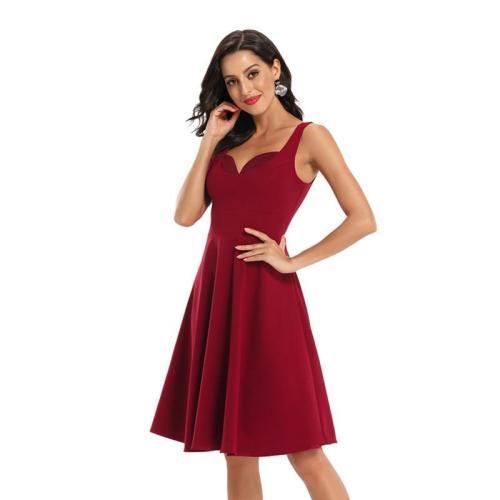 Retro V-Neck Evening Dress Sexy Sleeveless evening Dresses Slim Short Off Shoulder Evening gown vestido de festa