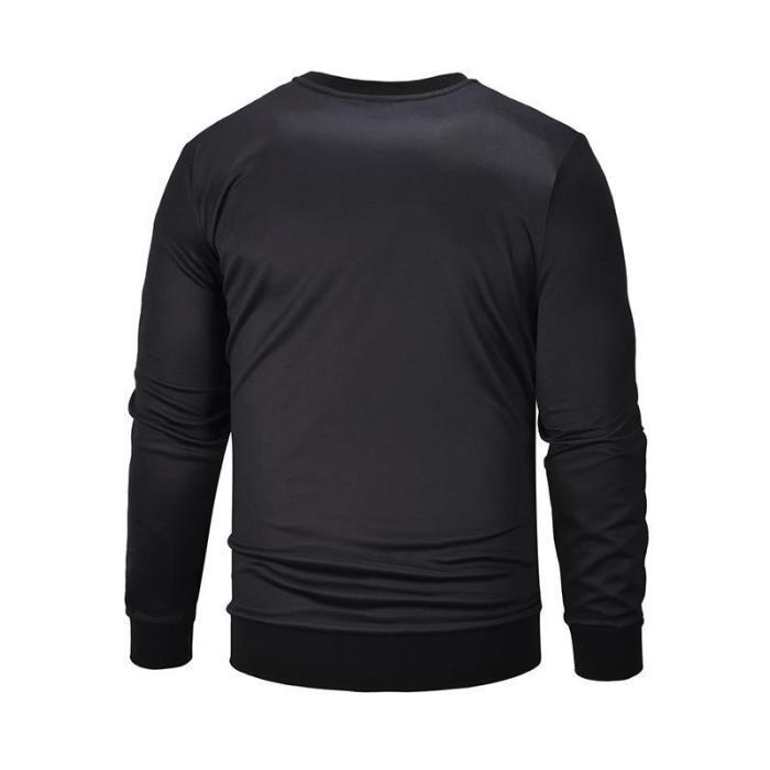 Stylish Men's Long Sleeve Printed Sweatshirt
