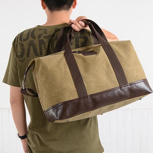Trendy Fashion Canvas Bag Men's Large-Capacity Shoulder Bag Outdoor Portable Messenger Bag Travel Backpack