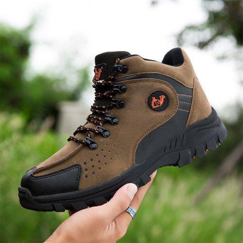Winter men's style with velvet outdoor Anti-Slip hiking shoes