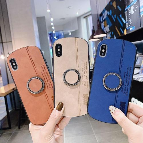 Leather Finger Ring Case For iPhone