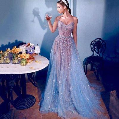 Eightree Tulle Sequins Evening Dresses Lace Dubai Celebrity Sweetheart Beads Long Prom Gowns A Line Formal Evening Party Dress