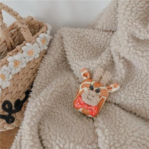 Kawaii Giraffe and Dog Plush Doll Winter AirPod Case