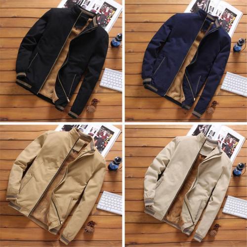 Men's Winter Jacket Men Warm Fleece Lining Coat Mens cotton Jackets And Coats Male Windbreaker Black Casual Wool Jacket Plus 5XL