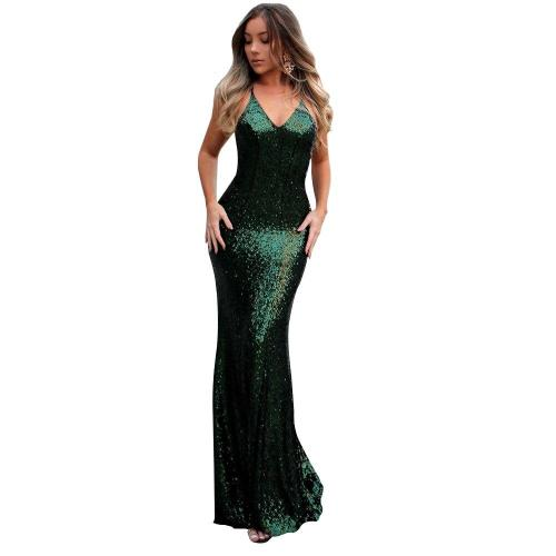 sexy backless Mermaid Evening Dresses fashion Sequin Long Evening Gowns elegant Party Formal evening Dress