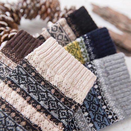 Retro rabbit wool comfortable national style warm socks