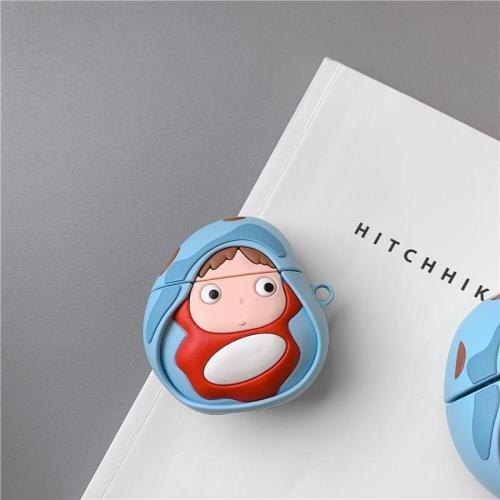 Miyazaki Hayao Ponyo on The Cliff 3D Silicone AirPod Case Cover
