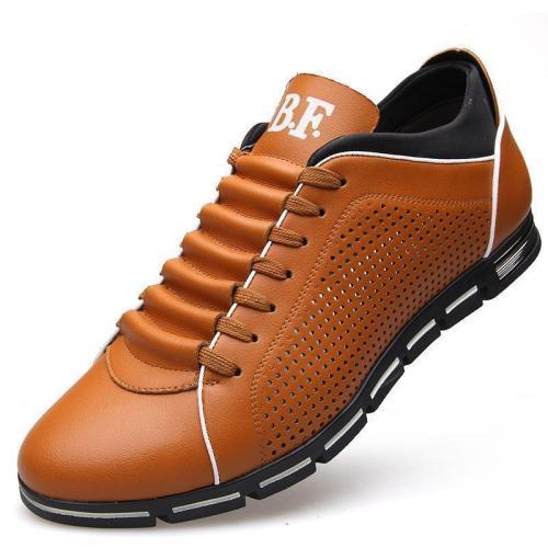 Breathable Fashion Mens Imitation Leather Shoes