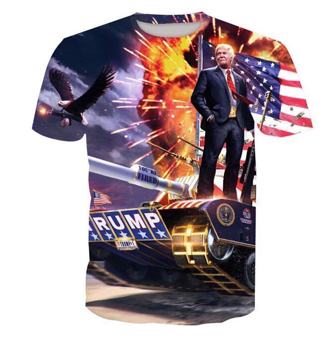 Trump Print Short Sleeve T-Shirt