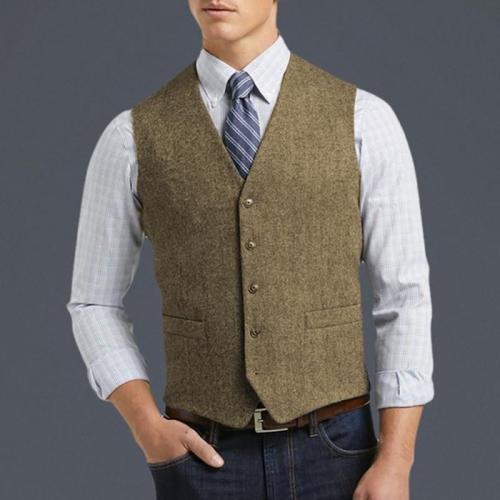 Men's Casual Fashion Solid Color Vest
