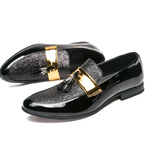 Spring new Korean men's toe shoes