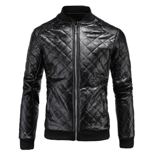 Fashion Lapel Collar Plain Diamond Coat