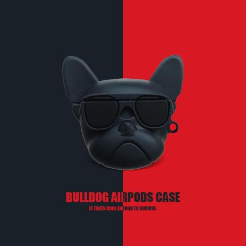 Luxury Bulldog 3D AirPods 1 2 Charging Headphones Cases