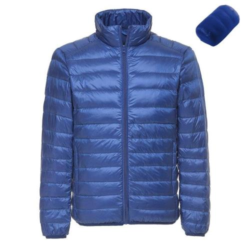 Men's Winter Ultralight White Duck Down Jacket Casual Portable Warm Parkas Autumn Windproof Lightweight Jackets Down Coats 6XL