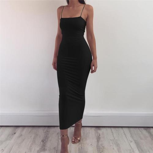 Spaghetti Strap Backless Sexy Long Dress Party Off Shoulder Strapless Summer Maxi Dress Black Spring Bodycon Dress Women vestido