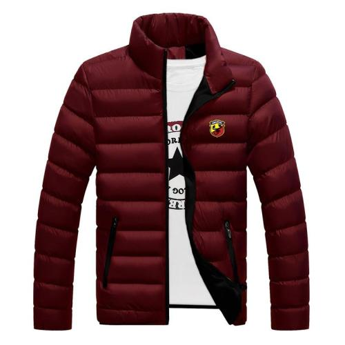 Abarth Custom Autumn Winter Mens Down Jacket Baseball Printed Slim Warm Casual Coats For Men Brand Clothing Coats Male Outerwear