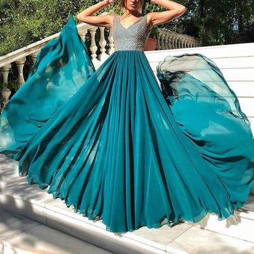 Sexy Sleeveless Mesh Evening Dress