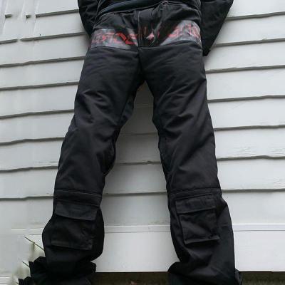 Black pocket casual mens trousers TT010