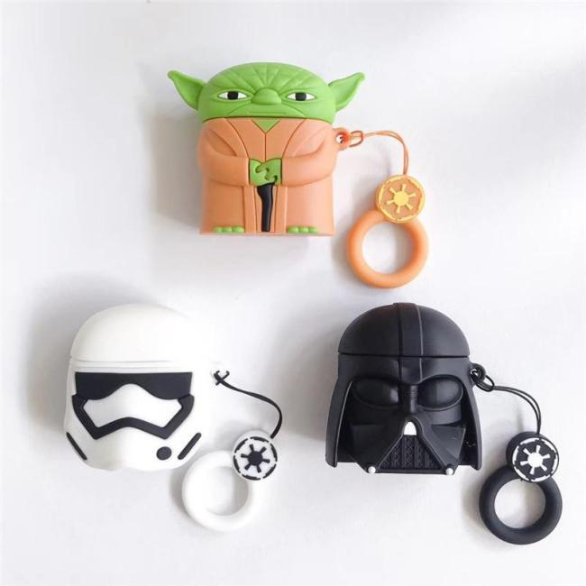 Star Wars Darth Vader 3D Silicone Couple AirPod Case Cover with Ring