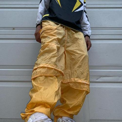 Yellow casual loose mens trousers TT010