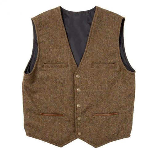 Casual men's sleeveless solid color vest