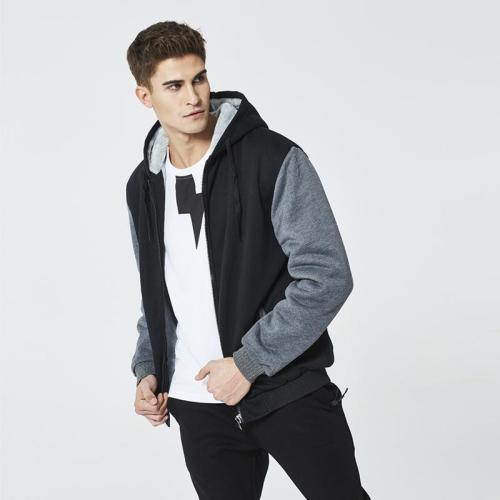 Men's warm sweater street hoodie hooded cardigan coat