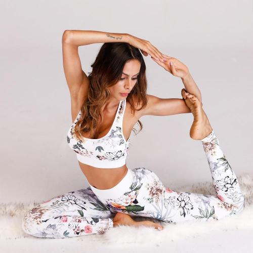 2pcs Print Sports Bra + Leggings Yoga Outfits for Women Workout Set Clothes Running Fitness Jogging Sports Suit Gym Sportswear