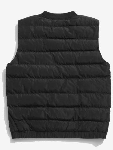 Men's Stand Collar Zip Fly Padded Vest