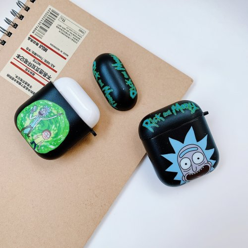 Cartoon Rick and Morty AirPods Charging Headphones Cases