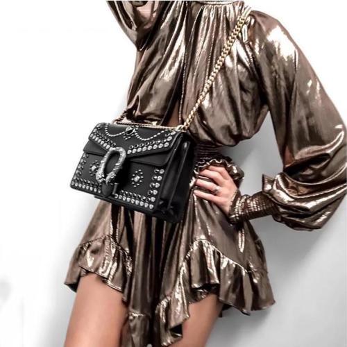 Women's Fashion Solid Color Irregular Hem Dress