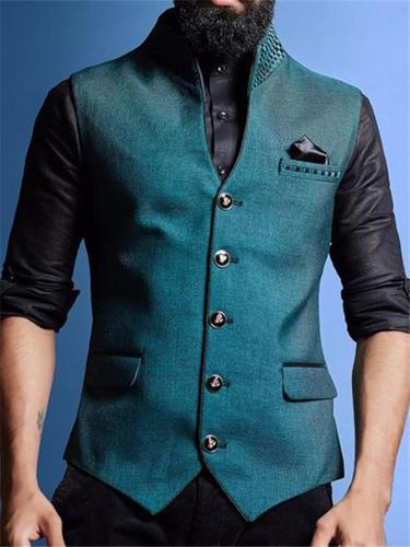 Flashmay Men's Fashion Solid Color Vest