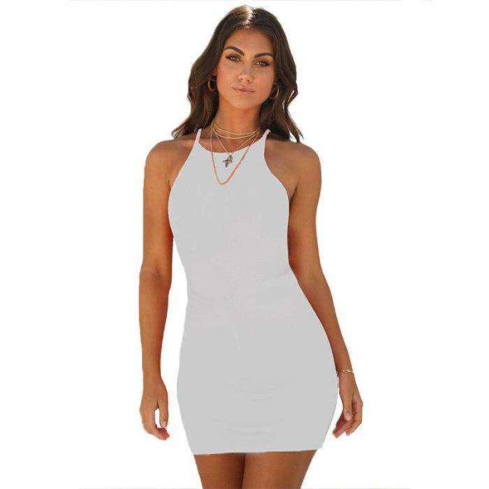 Summer Dress Women Sexy Strappy Lace White Mini Dresses Female Ladies Club Party asymmetric dress