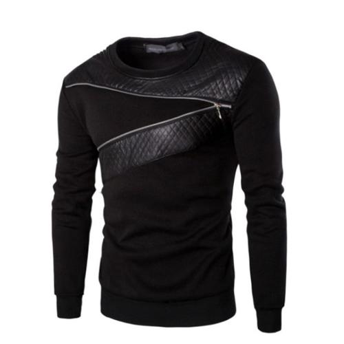Men's Long Sleeved Stitching Loose Sport Men Clothes