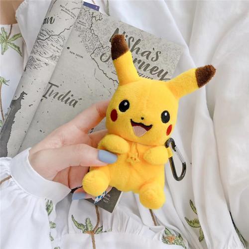 Kawaii Pikachu Pokemon Winter Plush AirPod Case