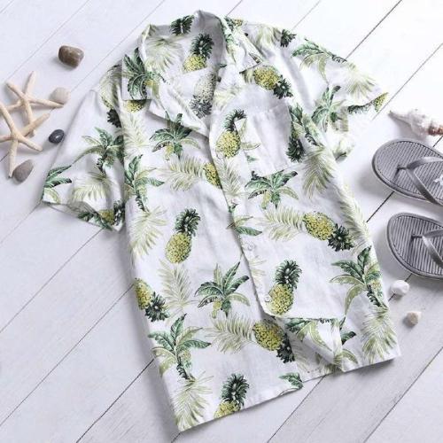 Summer Hawaiian Tropical Beach Man Floral Shirts