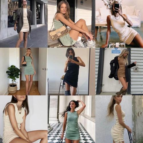Linjiashop black mini dress women elastic bodycon beige green coffee straps sleeveless mini dress ladies vestidos robe femme