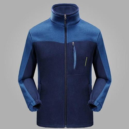 Men Casual Autumn Jacket Fashion Fit Outerwear Fleece winter Warm Sporting Mens Jackets and Coats Stand Collar Sportswear 4 5XL