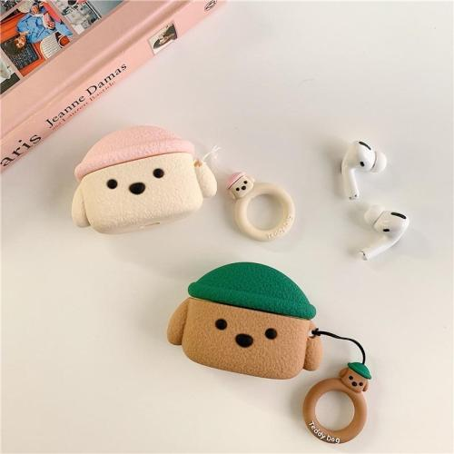 Poodle Teddy Dog AirPods Pro Charging Headphones Cases With Ring