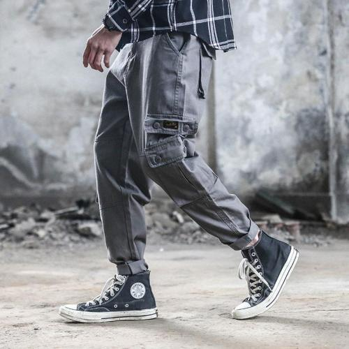 Street Fashion Loose Multi-Pocket Tooling Pants